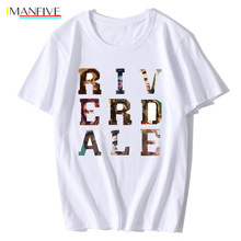 Classic Riverdale T-Shirt Fashion Men Retro Jughead Grunge Riverdale Tshirt Team 3D Red Letters Graphic Cotton Rocket Tee Shirts(China)