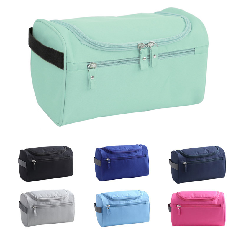 2019 New Fashion Waterproof Men Hanging Makeup Bag Nylon Travel Organizer Cosmetic Bag Wash Toiletry Case Necessaire Male Bag