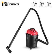Вакуумный Пылесос DEKO DKVC-1400-15P для сухой и влажной уборки, пластик, Нержавеющая сталь, портативный мощный вентилятор
