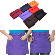 Apron Server Short Cafe Waitress Half-Waist Kitchen Cotton Bow Pub New-Bar High-Quality