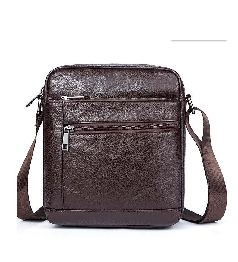New Men Casual Shoulder Bag Portable Nylon Waterproof Crossbody Bag Outdoor Satchel Small Bags Handbag Waterproof  In Black