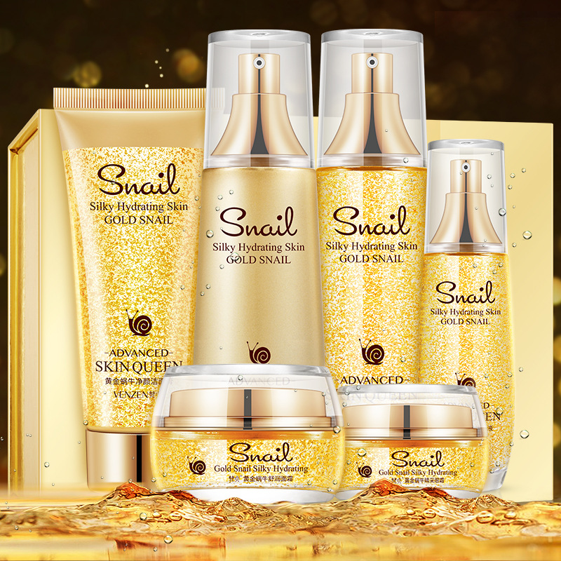 Snail Extract Skin Care Sets Whitening Deep Moisturizing Hydrating Anti Aging Wrinkle Acne Treatment Firming Beauty Face Care