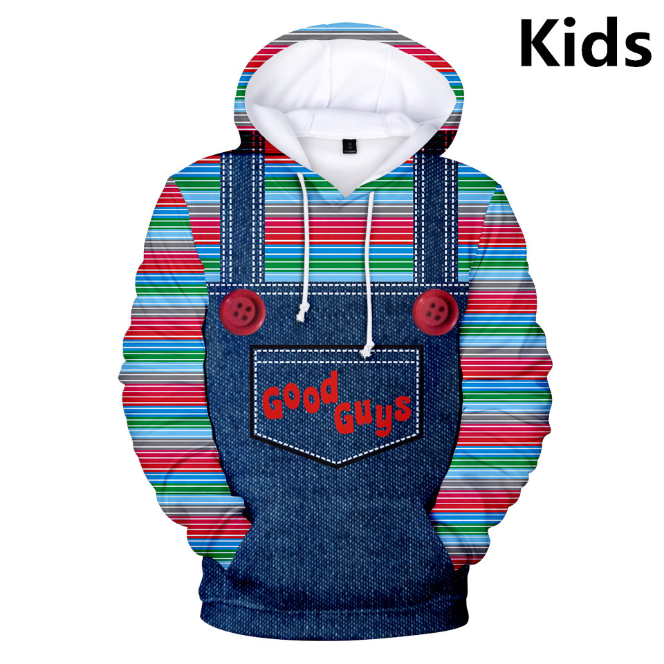 3 To 14 Years The Evil Good Guys Toy Clothing Kids Boys Long Sleeve Hoodies Halloween Chucky Hoodie Sweatshirt Children Clothes