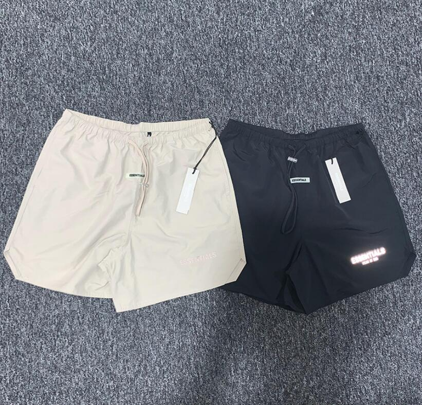 20ss Latest Justin Bieber Fog Style ESSENTIALS 3M Reflective Shorts Men HipHop Loose Sweat Shorts Streetwear Fashion Shorts