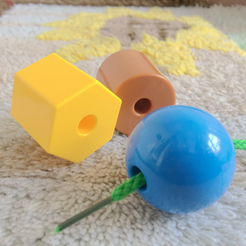 1-3 Years Old Children Bead Toy Educational Wear Beads Threading Building Blocks Early Childhood Training Motion Fine