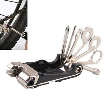 1 шт. 19 в 1 Набор инструментов для ремонта велосипеда с шестигранной отверткой, набор гаечных ключей с цепочкой и заклепками, набор инструмен...