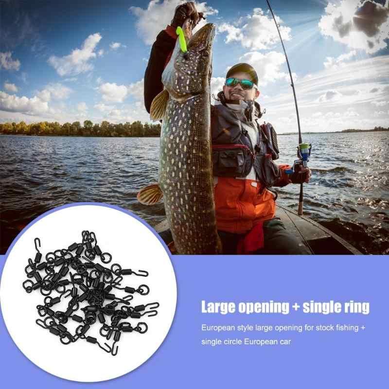 18mm * 5mm * 5mm 20 stks/set Black Quick Change Spinner Swivel voor Ronnie Rig Karpervissen visgerei Accessoires Tool Vissen Levert