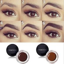 VERONNI New 8 Colors Eyebrow Enhancers Maquiagem Makeup Waterproof Eye Brow Filler Beverly Hills Pomade Gel CARAMEL