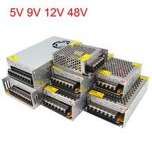 Адаптер питания 5 в 12 В 9 в 48 В трансформатор питания 220 В до 12 В светодиодные Трансформаторы освещения 5 9 12 48 Вольт источник Питания SMPS