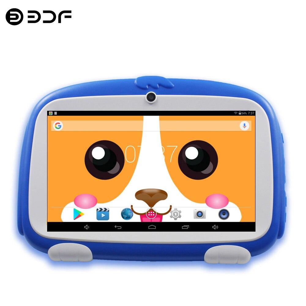 Новое поступление 7-дюймовые Детские планшеты четырехъядерный Google Play Android 8,0 Двойная камера Bluetooth WiFi планшетный ПК детские подарки