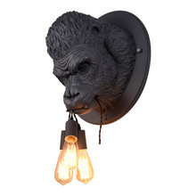 Modern Nordic Resin Fixtures Luminaire Minimalist Creativity Gorilla Wall Lamps Led Wall Lights for Foyer Loft Bedroom Bedside