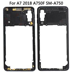 Image 2 - Dành Cho Samsung Galaxy Samsung Galaxy A7 2018 A750 Lưng Pin + Trung Khung + Sim Thẻ Ốp Lưng Thay Thế Mới A750 Full nhà Ở Pin