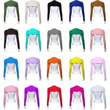20 kolorów muzułmanki z długim rękawem szal naramiennik Bolero/wzruszenie ramion/Wrap słońce rękaw ochronny Stretch pokrywa rękaw Solid Color nowy
