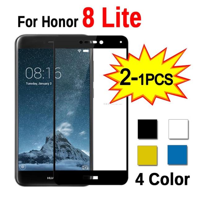 1 2 szt. Szkło do Huawei Honor 8 Lite światło ochronne szkło hartowane na cześć 8 Honor8 Lite światło 8 lite ochraniacz ekranu