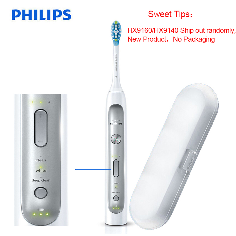 Philips HX9160/9140 Sonicare Electric Toothbrush Improves Gum Health In Only Two Weeks for An Invigorating Deep Clean for Family-in Electric Toothbrushes from Home Appliances
