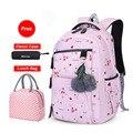 Школьный рюкзак для девочек  вместительный рюкзак с цветочным принтом в Корейском стиле  2020