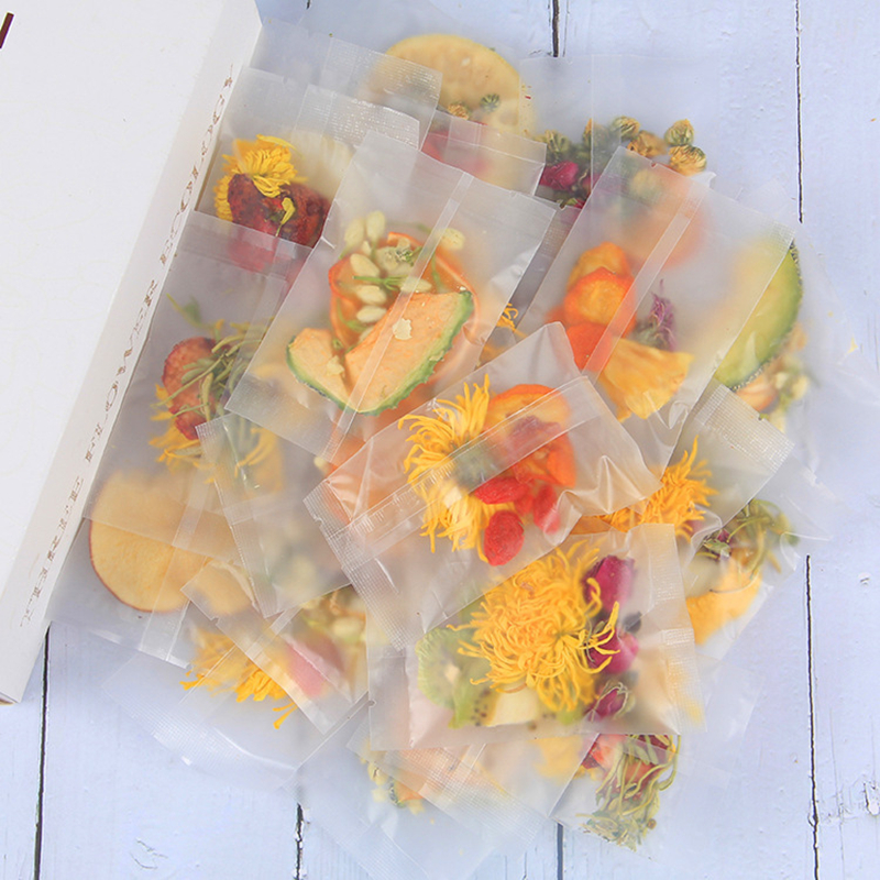 Organic Fruit Flower Tea Mixes Hand-made Combination Of Fresh Cold Brewed Fruit Tea Dried Fruit In Small Bags