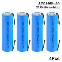 4 шт 3,7 V 2800mAh 18650 литиевая батарея премиум Защита окружающей среды дружелюбный RechargeableICR 18650 литий-ионный аккумулятор Батарея с плоским верхом ...