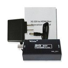 SDI HDMI dönüştürücü 5V destek HD SDI/3G SDI ekran için HDTV projektör ses Video adaptörü Full HD 1080P