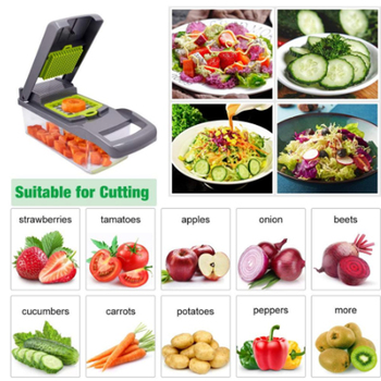 Multifunctional Vegetable Cutter 7Dicing Blades Mandoline Slicer Carrots Peeler Potato Cheese Grater Chopper Kitchen Accessories 1