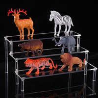 Tres niveles acrílico desmontable escalera marco Perfume joyería exhibidor transparente escalera tienda herramientas de exhibición