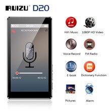 RUIZU D20 3 дюймовый полноэкранный MP3 плеер 8 ГБ, музыкальный плеер с FM радио, видеоплеер, проигрыватель электронных книг, MP3 со встроенным динамиком