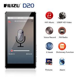 """Image 1 - RUIZU D20 3 """"كامل شاشة تعمل باللمس مشغل MP3 8 جيجابايت مشغل موسيقى مع راديو FM مشغل فيديو الكتاب الإلكتروني مشغل MP3 مع المدمج في مكبر الصوت"""