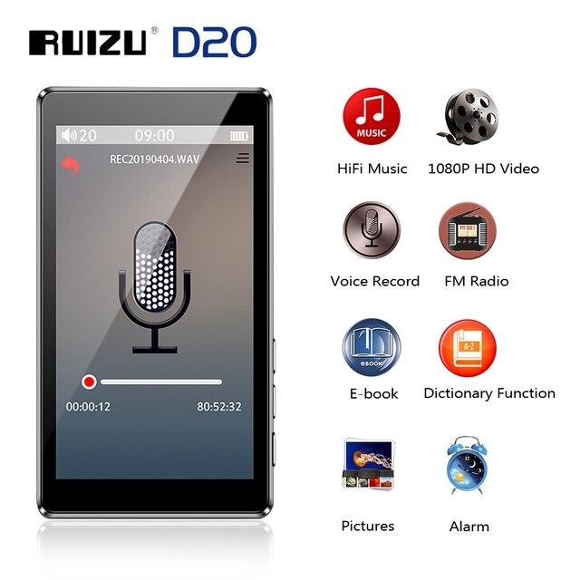 """RUIZU D20 3 """"كامل شاشة تعمل باللمس مشغل MP3 8 جيجابايت مشغل موسيقى مع راديو FM مشغل فيديو الكتاب الإلكتروني مشغل MP3 مع المدمج في مكبر الصوت"""