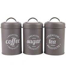 Caixa de Armazenamento de Chá de Café de Açúcar Pçs/set 3 Vasilha Para Cozinha Alimentos Recipientes Frascos Garrafas Garrafas Frascos De Armazenamento de Doces Tigela de Boxe