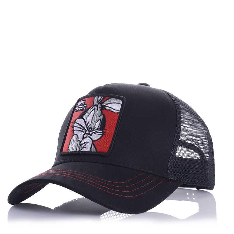 Vendita Calda Berretto Da Baseball Ricamo Animale Anime Sveglio Del Ricamo Della Maglia di Estate degli uomini Signora Parasole Esterna Papà Truck Driver cappelli