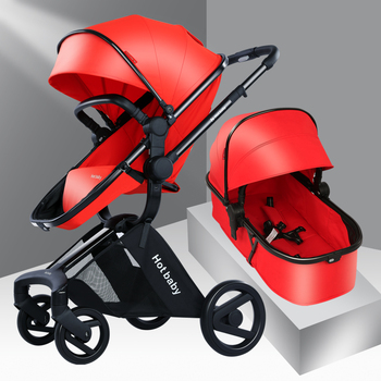 2020 New Stroller 3 in 1 Aluminum Alloy Frame Oxford Cloth Portable Folding High Landscape Two-way Push Suspension Baby