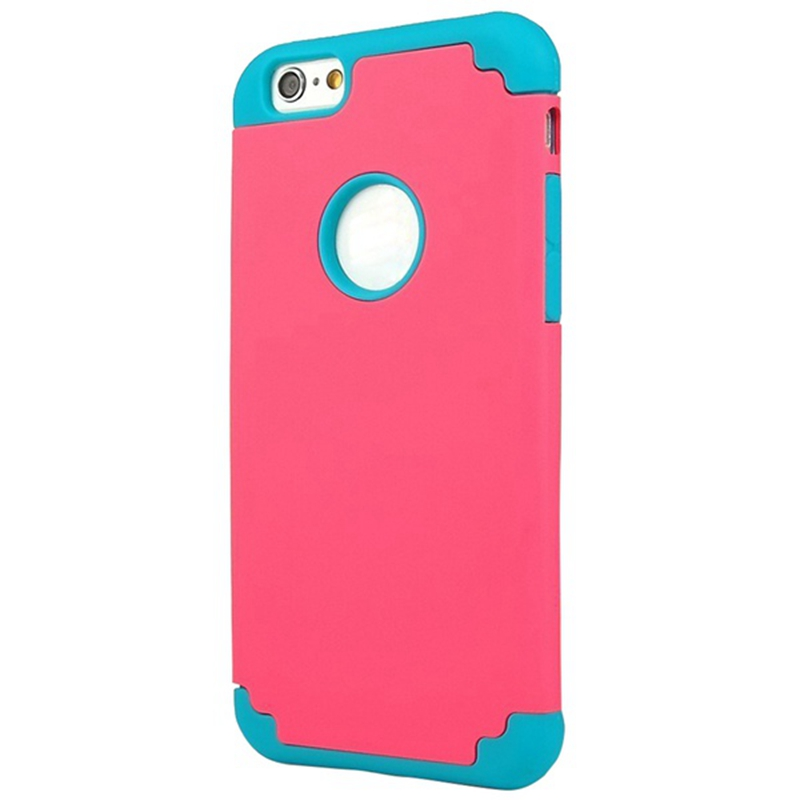 2in1 Case Hybrid Case Design With Soft Inner TPU + Outer Hard PC Layer For Apple IPhone 6s (4.7