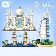 LOZ Mini Building Block Series London Tower Bridge Aegis Sailing Hotel Small Particle Assembly
