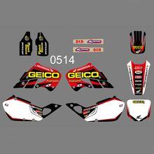 купить Full Graphics Decals Stickers Custom Number Name Glossy Stickers For Honda CR125 CR 125 1998 1999 CR250 CR 250 1997 1998 1999 по цене 3895.3 рублей