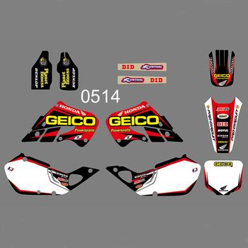 Full Graphics Decals Stickers Custom Number Name Glossy Stickers For Honda CR125 CR 125 1998 1999 CR250 CR 250 1997 1998 1999