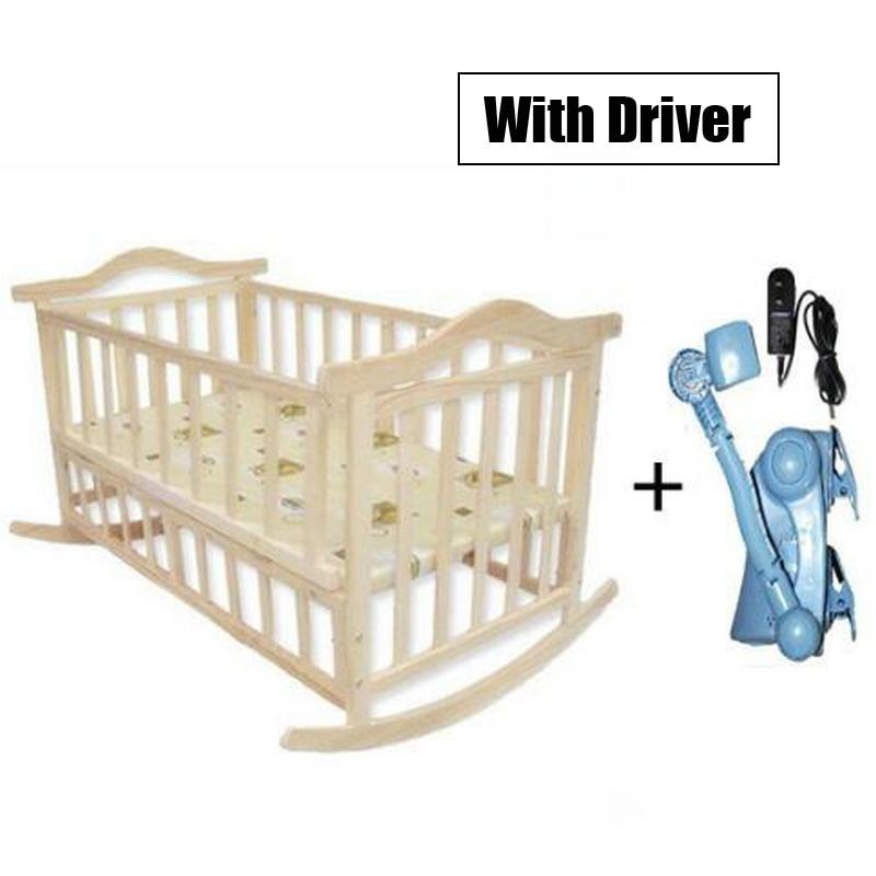Keine Strahlung Elektrische Schaukel Babywiege, Baby Schaukel Kiefer - Babymöbel - Foto 2