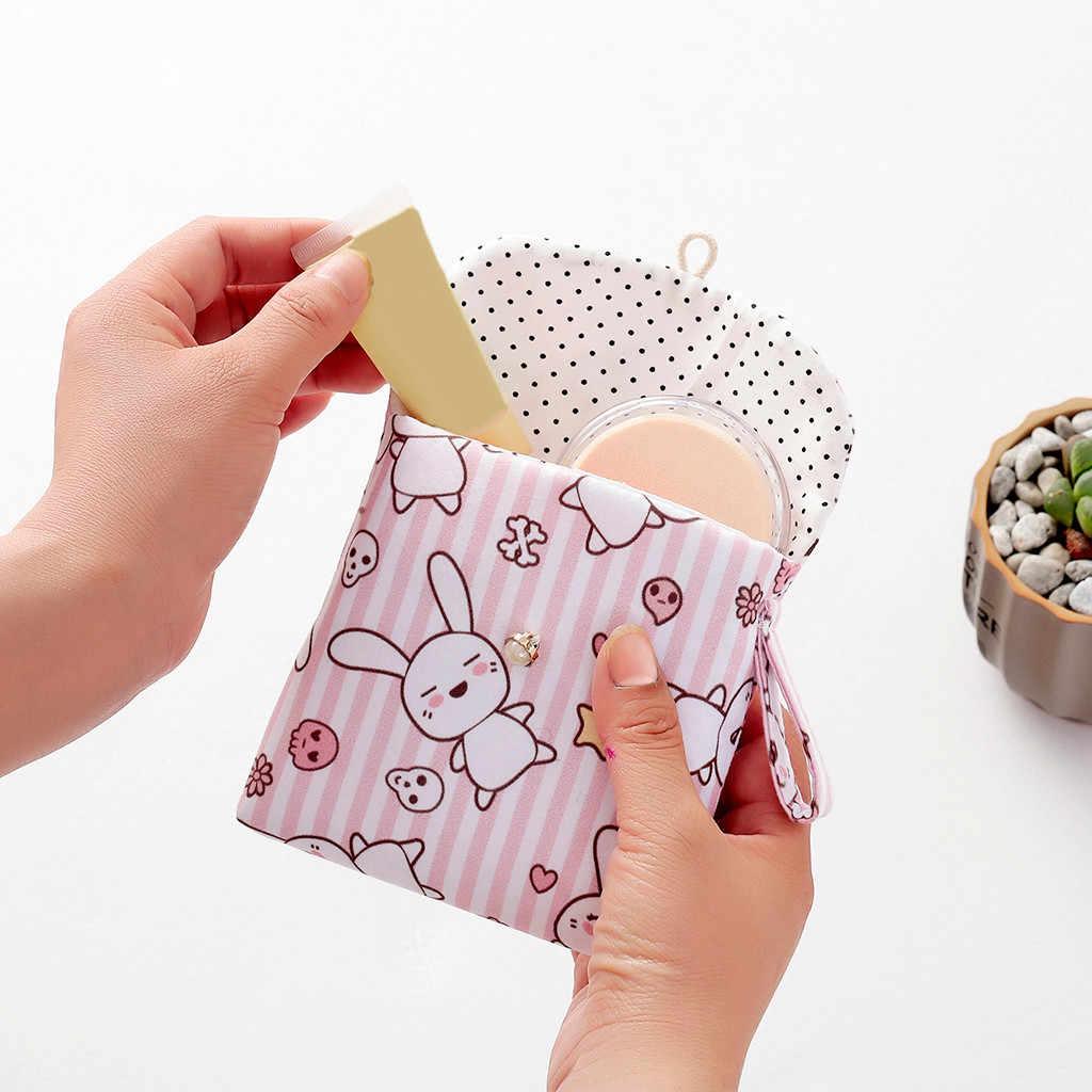 위생 패드에 대 한 재사용 가능한 빨 수있는 젖은 가방 월경 위생 이모 가방 13x13 cm 떨어지는 위생 수건 저장 가방