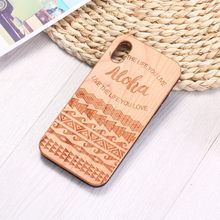 Verano Hawaii, playa, Aloha grabado, madera, Funda de teléfono, Funda para iPhone 6 6S 6Plus 7 7Plus 8 8Plus XR X XS Max 11 Pro Max(China)