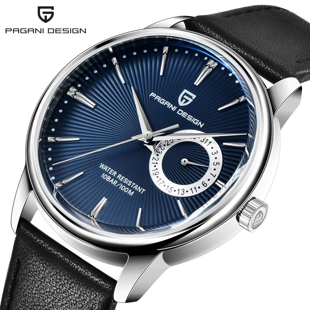 2019 New PAGANI DESIGN Men's Watches Top Brand Luxury Quartz Watch Men Leather 100M Waterproof Military Watch Men Relojes Hombre