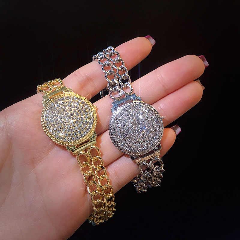 Shining étoile Double Zircon Cubique Slim Bracelet Bangle Mariage Bijoux 2 couleurs