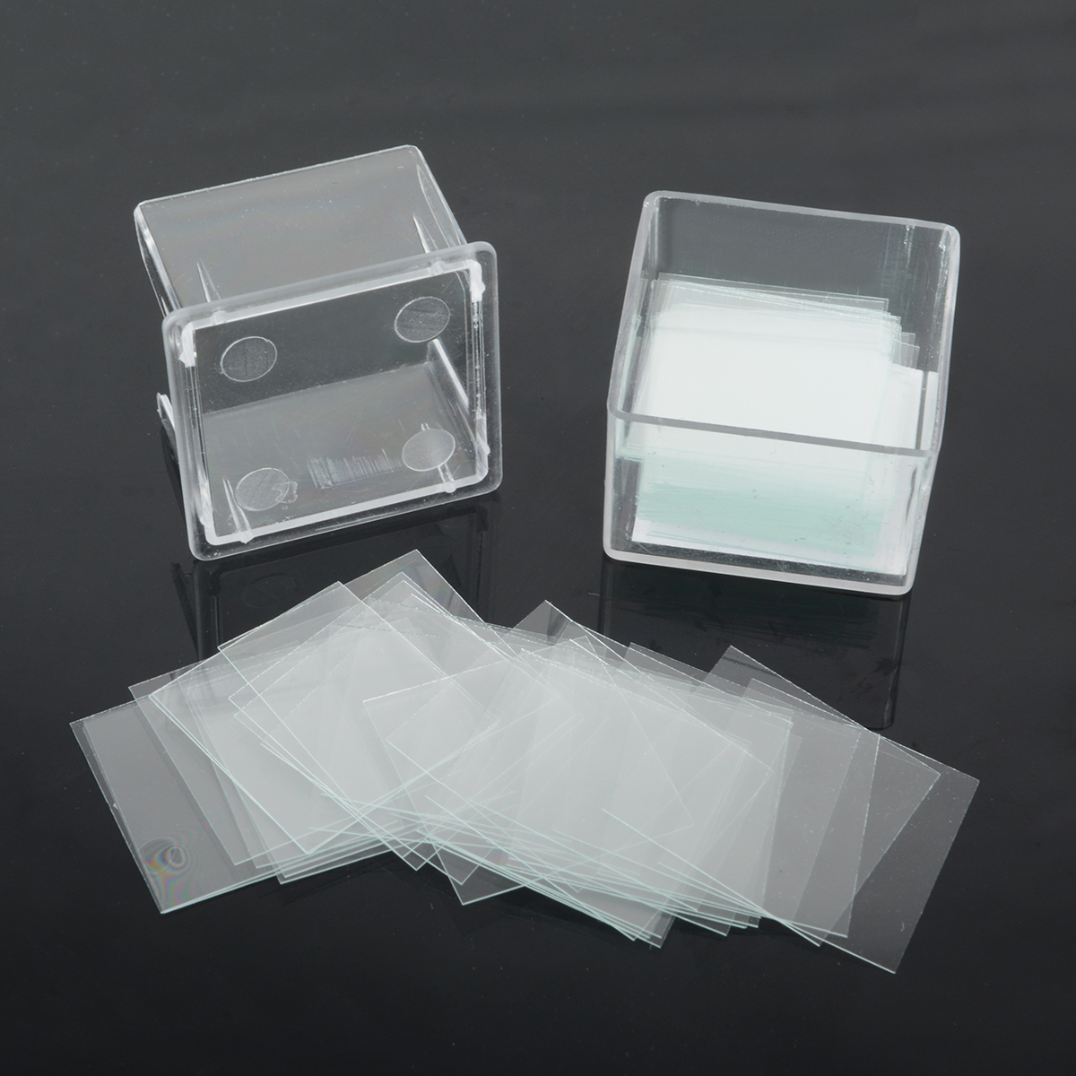 100pcs 22*22mm Blank Coverslip Slides Lab Supplies Square Microscope Cover Glass Set School Education Lab Replacement Tool