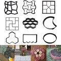 Бетонные формы для садового пола, форма для самостоятельного изготовления тротуарной дорожки для дома и сада, ручное изготовление цементно...