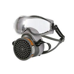 1 zestaw pół twarzy maska gazowa z goglami chemiczna maska przeciwpyłowa filtr oddechowy respiratory do malowania spawanie natryskowe przemysłowe akcesoria w Respiratory pożarnicze od Bezpieczeństwo i ochrona na