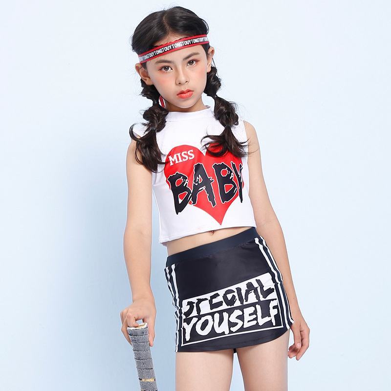 2018 Xiqi New Style KID'S Swimwear Girls' Two-piece Swimsuit Popular Brand Big Kid Bathing Suit Shao Nv Kuan