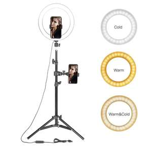 "10"" LED Ring Light Photographic Selfie Ring Lighting with Stand for Smartphone Youtube Makeup Video Studio Tripod Ring Light"