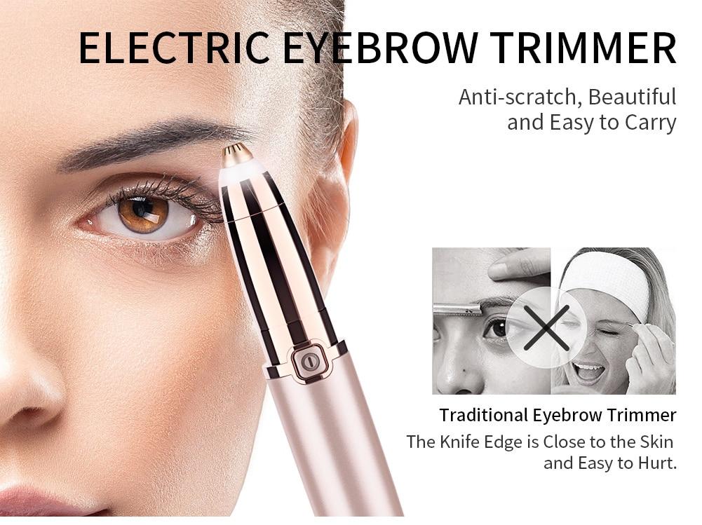 Ηλεκτρική αποτριχωτική μηχανή φρυδιών- flawless brows hair remover msow