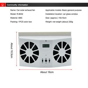 Image 3 - Car Solar Powered Exhaust Fan Auto Ventilation Fan Eco friendly Dual Mode Power Supply High Power Car Gills Cooler Portable