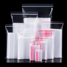 100PCs Plastic Bags Ziplock Food Packaging Jewelry Small Zip Lock Bags Clear Fresh-keeping Dustproof Reclosable Candy StorageBag