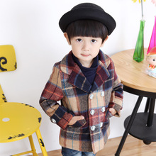 Fashion Childern Coats Winter Jacket Boy Thickness Wool Kids Clothes M139