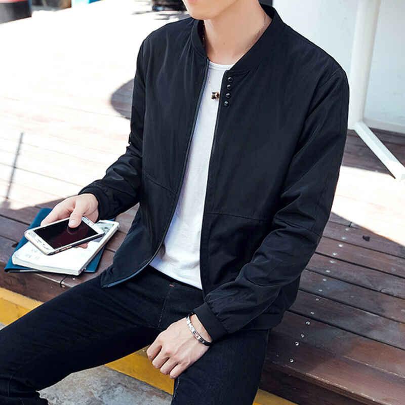 Neuheiten herren Bomber Zipper Jacken Männlichen Casual Street Hip Hop Slim Fit Mantel Männer Kleidung Plus Größe Outfits 2 farben